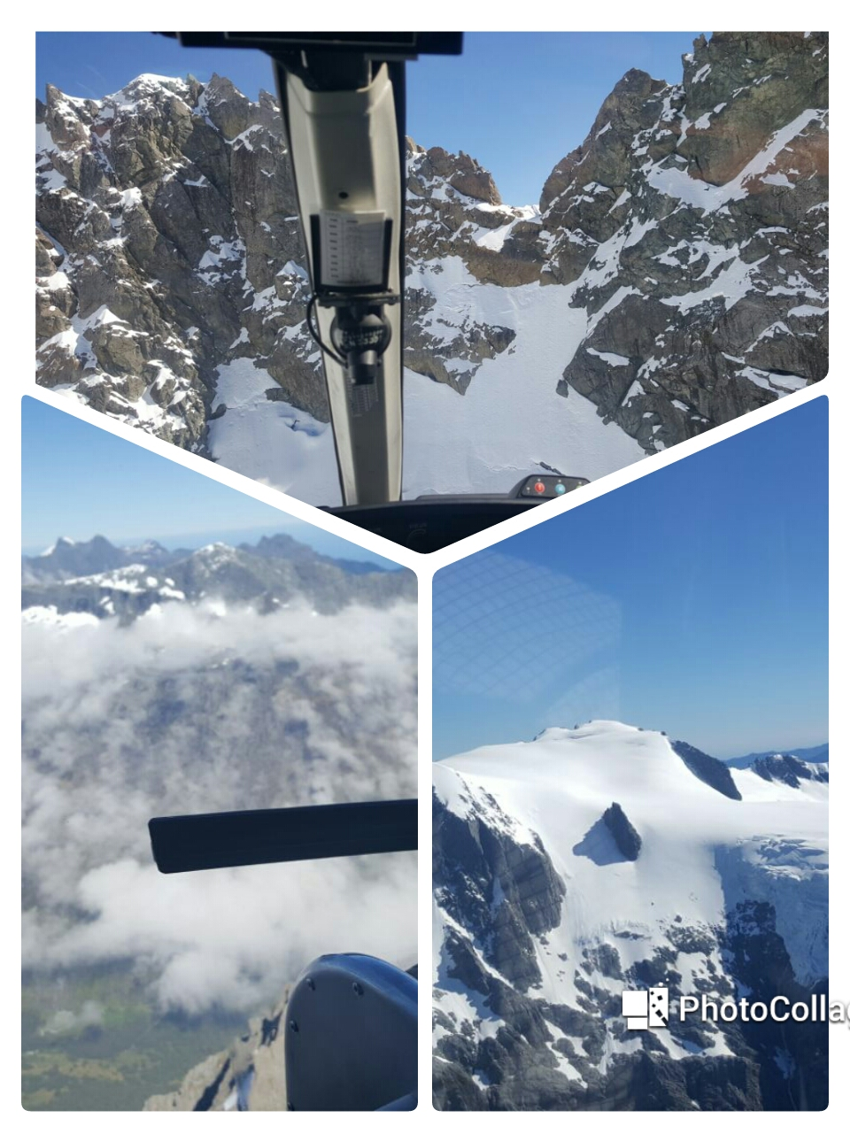 Travel Blogs on collage of Milford Helicopter New Zealand